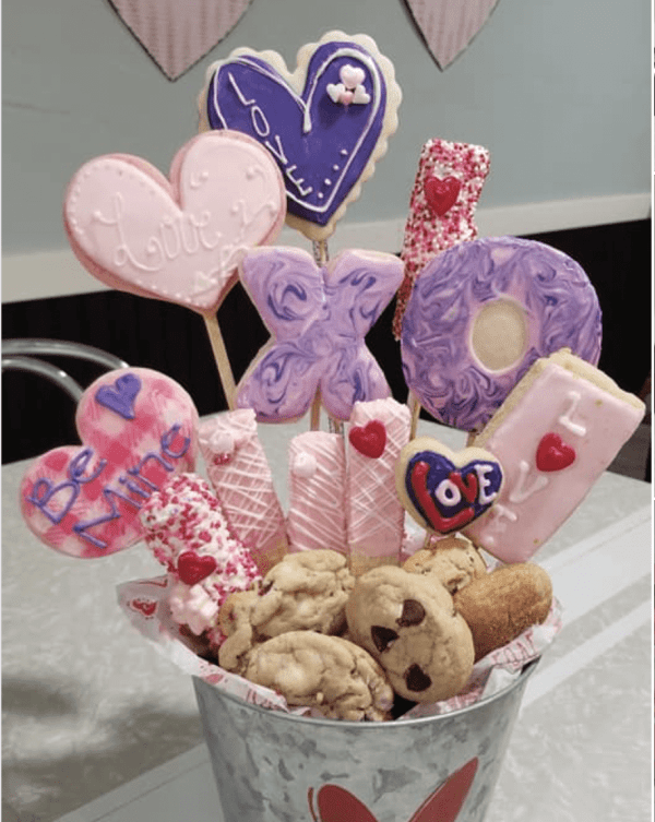 Delectable Valentines Goodies from ME.ND Bakery & Deli, Tioga, North Dakota. Photo from their Facebook page.