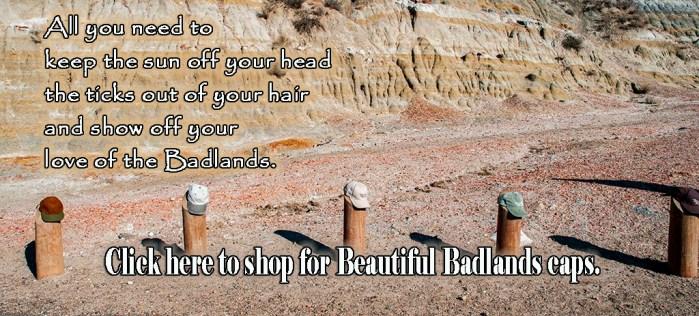 Beautiful Badlands ND caps