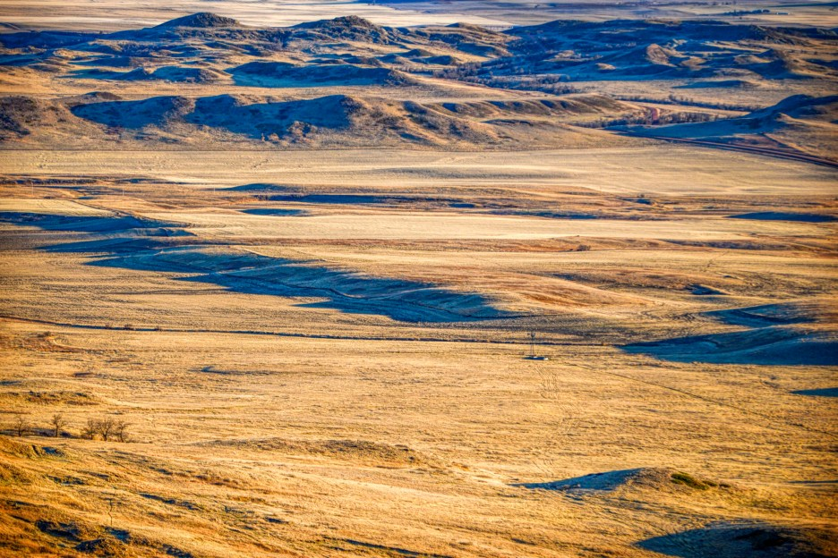 dry ranchland at sentinel butte