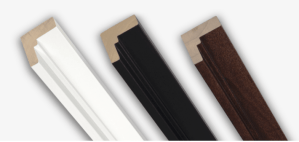 Colors available for floating frame canvas wraps - White, Black, Walnut