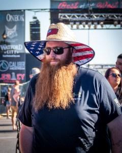 Patriotic dude. Watford City Ribfest. August 13, 2021