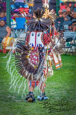 Dancer in Regalia Little Shell Celebration, New Town, North Dakota August 14, 2021