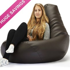 Girls Bean Bag Chairs Used Table And For Restaurant Use Mega Highback Faux Leather Beanbag