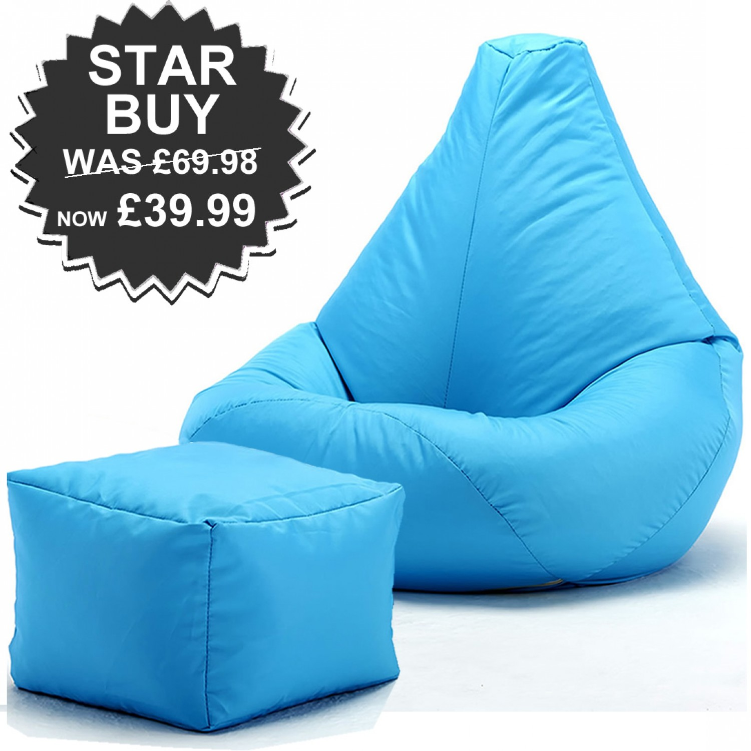 buy bean bag chair easy christmas covers highback beanbag and footstool for indoors or outdoors