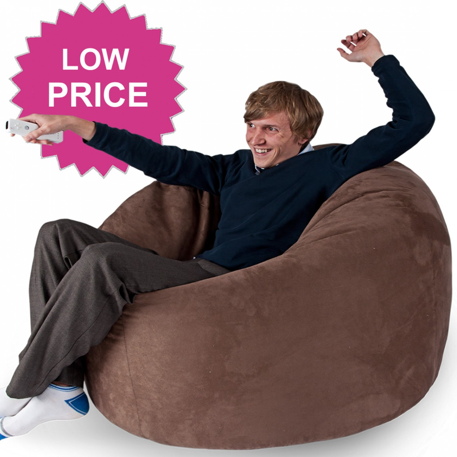 what size bean bag chair do i need office with neck support mega classic faux suede beanbag