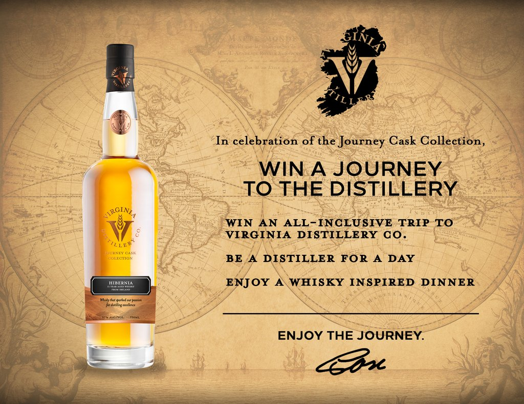 , Virginia Distillery Company Launches Journey Cask Collection with Cask-Strength 11-year-old Irish Single Malt