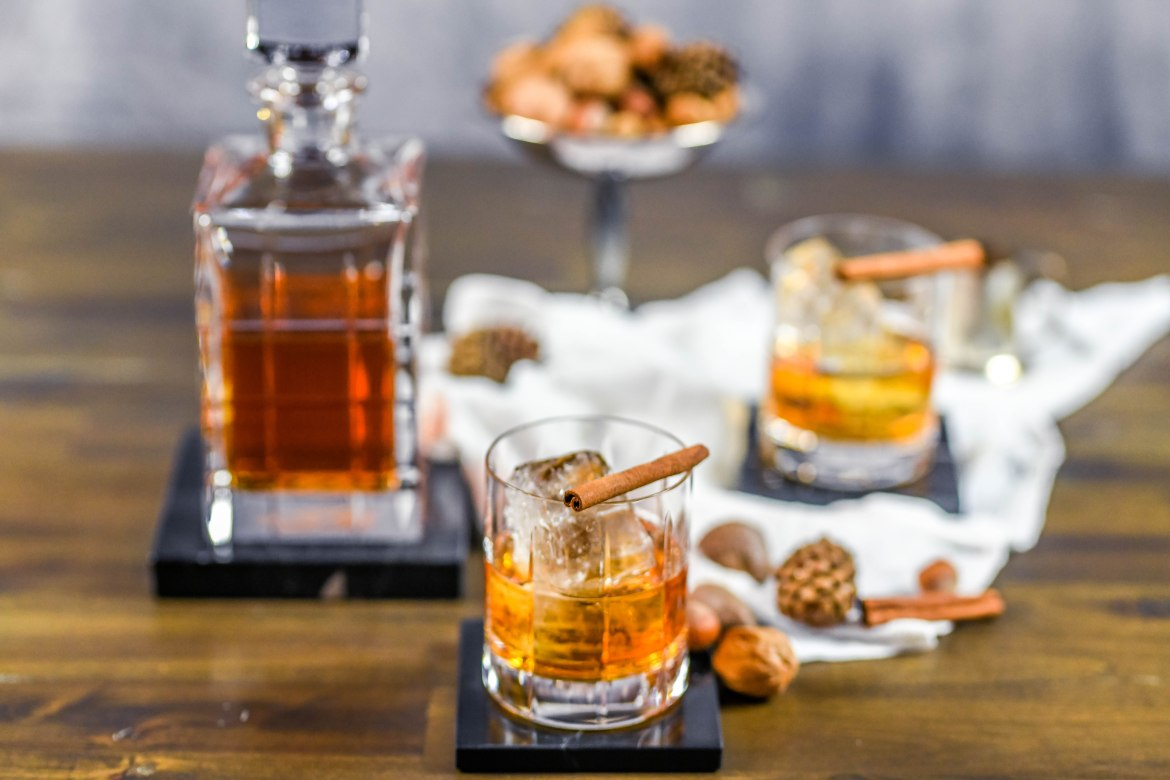 , Spiced Rum Old Fashioned