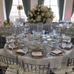 Gold Chair Covers To Rent Folding Fabric Beautiful Memories Cover Linen Rental