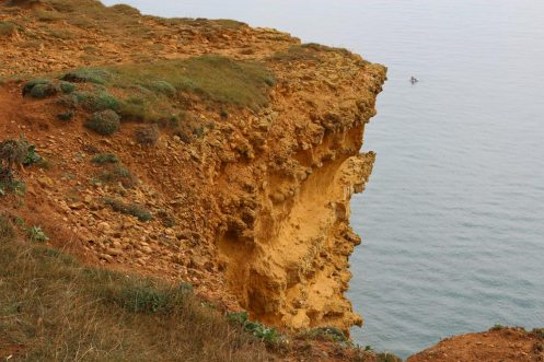 Erosion, top of East Cliff, West Bay, near Bridport