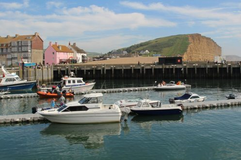 Harbour entrance, West Bay, near Bridport