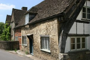 14th century Cruck House, Church Street, Lacock
