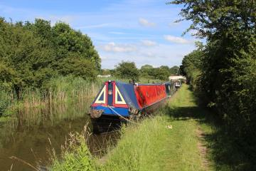 Narrow boats, Trent and Mersey Canal, from Ryan's Bridge, Bartington