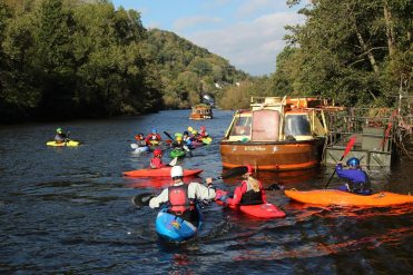 Canoeing, River Wye, Symonds Yat