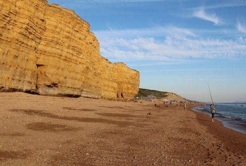 Chesil Beach and Burton Cliff, Burton Bradstock