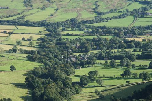 Edale, from Kinder Plateau