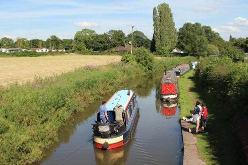 Narrow boats, Trent and Mersey Canal, from Ryan's Bridge, Bartington