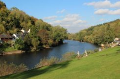 River Wye, from grounds of Forest View Guest House, Symonds Yat