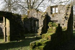 Ruins of Wycoller Hall, (Ferndean Manor in Charlotte Brontë's 'Jane Eyre') Wycoller