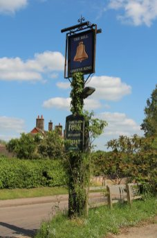 The Bell pub sign, Benington