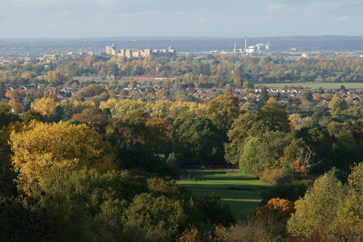 Windsor Castle, from Air Forces Memorial, Runnymede