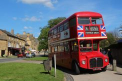 London Routemaster bus, Broadway, Cotswolds