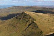 Cribyn, from Pen y Fan, Brecon Beacons