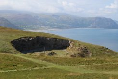 Bishop's Quarry and Snowdonia, from summit, Great Orme