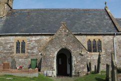 Entrance, St. Cattwg's Church, Port Eynon