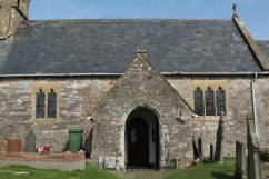 Entrance, St. Cattwg's Church, Port Eynon