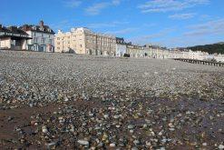 North Shore Beach and seafront hotels, Llandudno