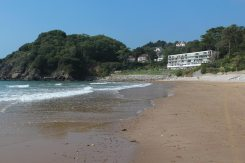 Redcliffe Apartments, above beach, Caswell Bay, Gower