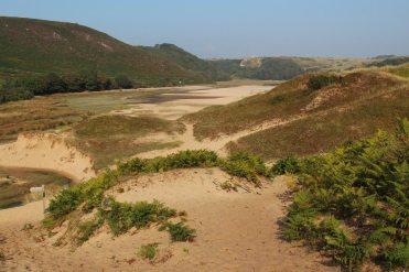 Sand dunes, Three Cliffs Bay, Gower