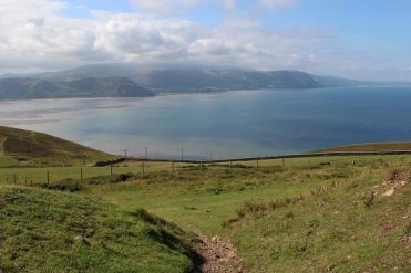 Snowdonia across Conwy Bay, from Great Orme