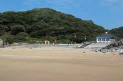 Surfside Cafe, beach, Caswell Bay, Gower