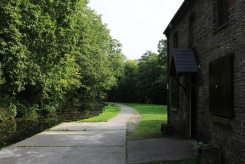 Ty Banc Cottage, where Will Evans lived, beside towpath, Neath Canal