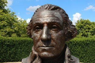 Bicentennial Washington, bust of George Washington, Sulgrave Manor, Sulgrave