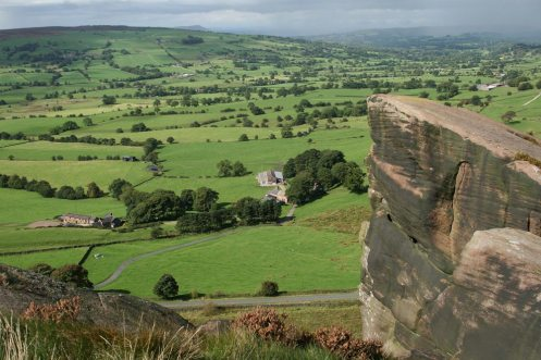 Cheshire Plain, from Hen Cloud, The Roaches