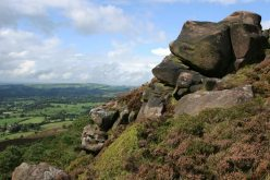 Cheshire Plain, to North Wales, from crags, The Roaches
