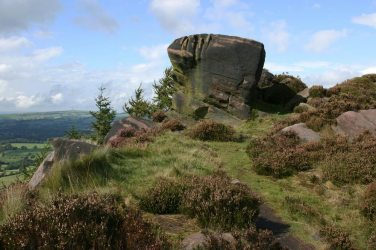 Gritstone boulder, The Roaches