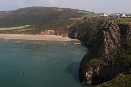Rhossili and Rhossili Bay, from headland