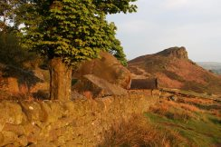 Rockhall Cottage garden and Hen Cloud, The Roaches