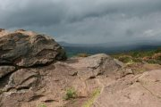 Storm over the Cheshire Plain, from The Roaches