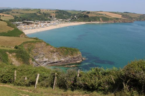 Pentewan, from coast path