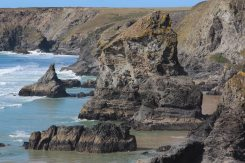 Samaritan Island and Queen Bess Rock, Bedruthan Steps