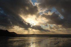 Sunset over Gulland Rock, Hayle Bay, Polzeath