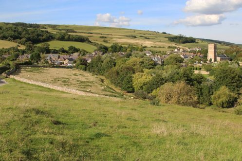 Abbotsbury, from foot of Chapel Hill