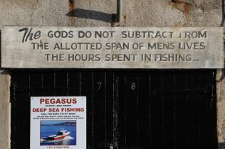 Fishing quotation, Victoria Pier, The Cobb, Lyme Regis