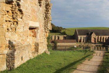 Gable End, Abbotsbury Abbey and Tithe Barn, Abbotsbury