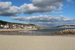 Sandy beach near Harbour, Lyme Regis