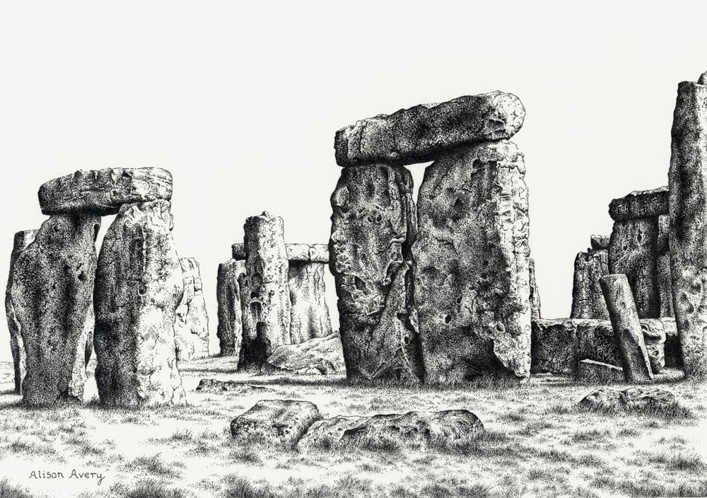 Stonehenge Limited Edition Pen And Ink Print By Alison Avery Beautiful England Photos Page for alison avery fans. stonehenge limited edition pen and ink
